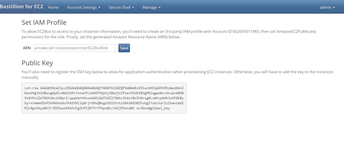 Bastillion for EC2 - Documentation: Service Startup Setup