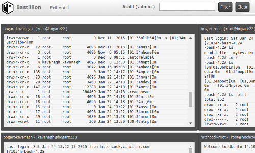 Audit SSH Sessions